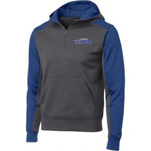 Colorblock 1/4-Zip Hooded Sweatshirt